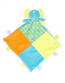 Baby Multi Coloured Comforter with Rattle